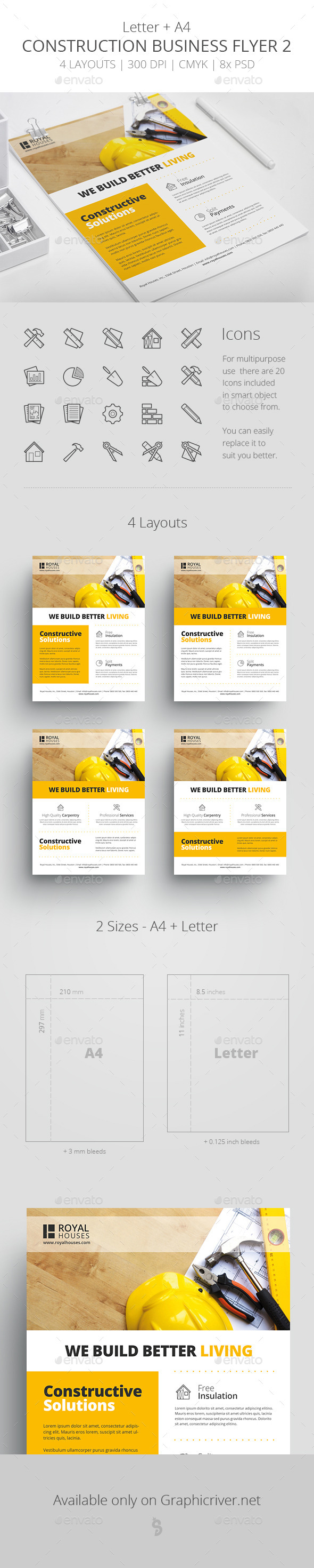 GraphicRiver Construction Business Flyer 2 Letter & A4 11220938
