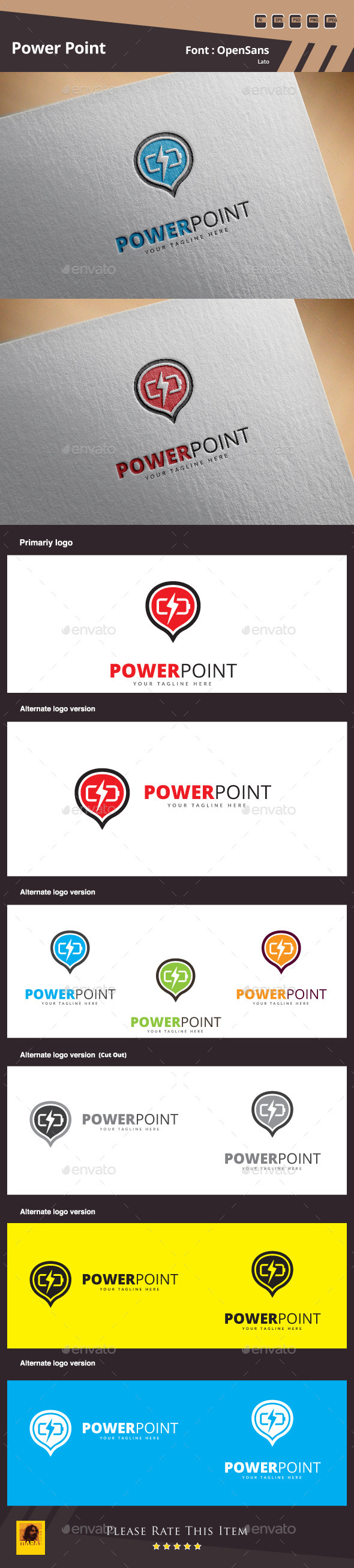 GraphicRiver Power Point Logo Template 11221205