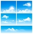 Five backgrounds of blue sky with clouds.  - PhotoDune Item for Sale