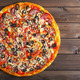 pizza on a wooden table - PhotoDune Item for Sale
