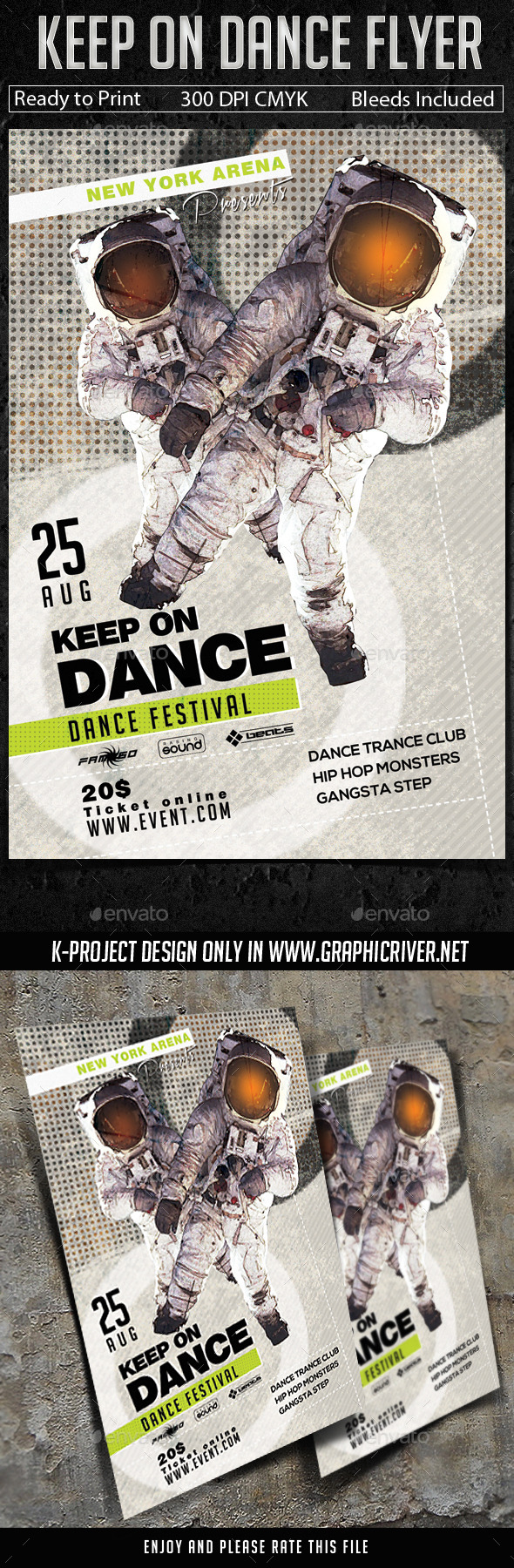 GraphicRiver Keep On Dance Flyer 11221379