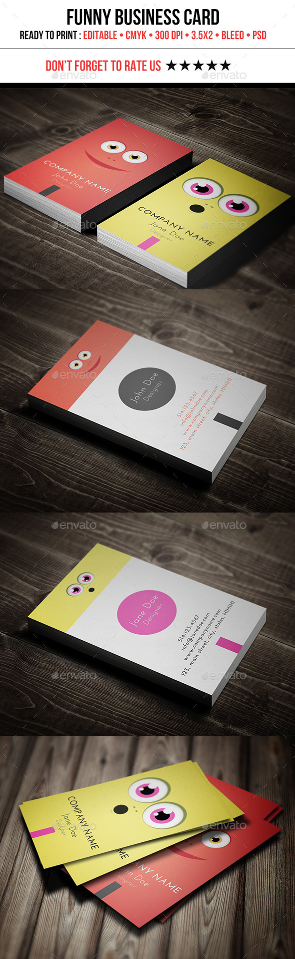 GraphicRiver Funny Business Card 11204503