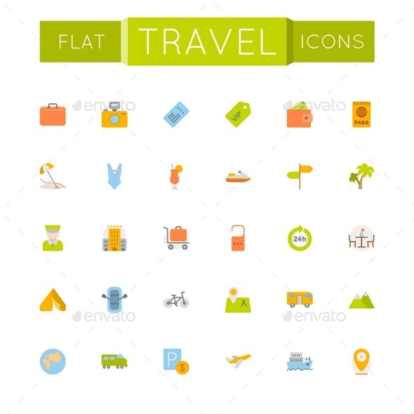 GraphicRiver Vector Flat Travel Icons 11221682
