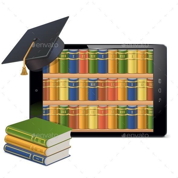 GraphicRiver Tablet PC with Library 11221781