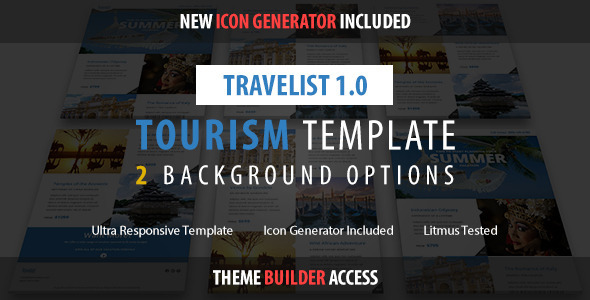 ThemeForest Travelist Tourism Email & Theme Builder Access 11221782