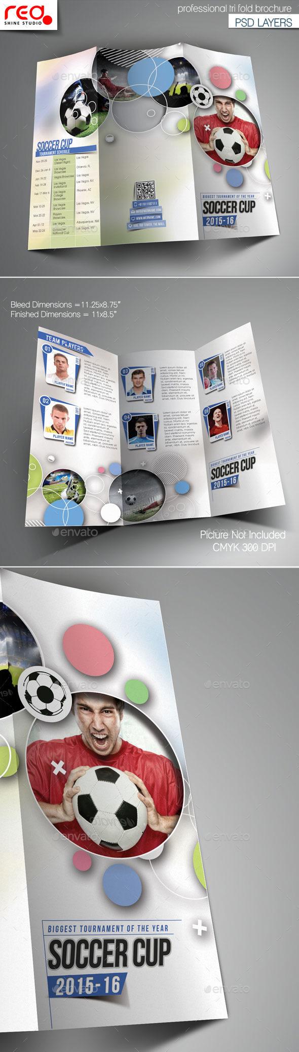 GraphicRiver Sport Multipurpose Trifold Brochure Template 11221788