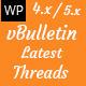 VBulletin Latest Threads - WordPress Plugin  - CodeCanyon Item for Sale