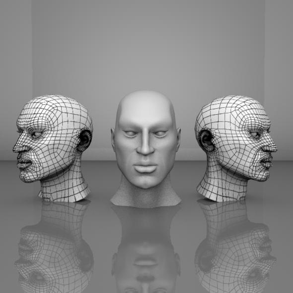 3DOcean Human Head Mesh 11221937