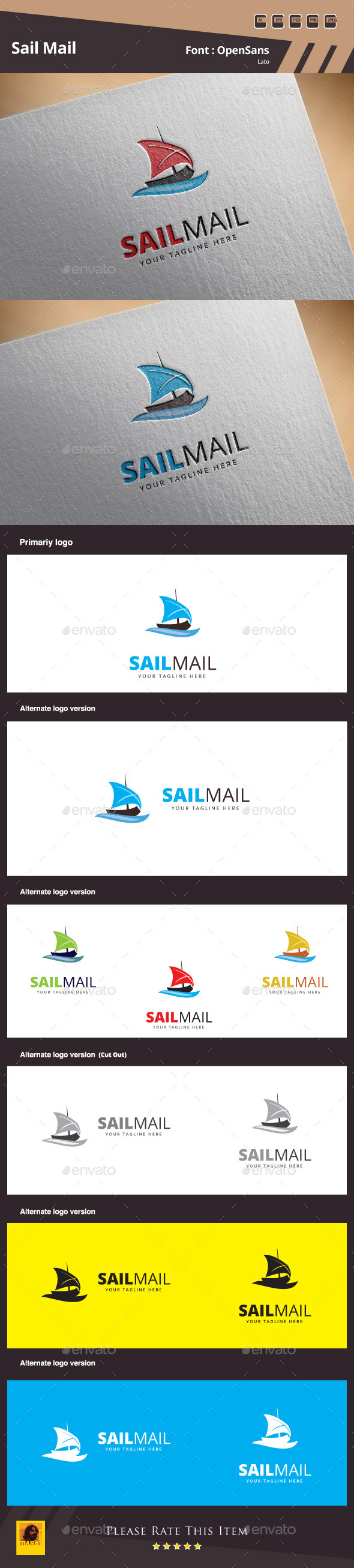 GraphicRiver Sail Mail Logo Template 11221946
