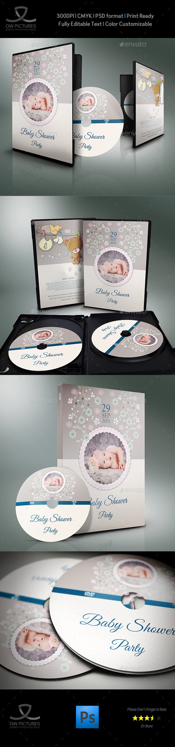 GraphicRiver Baby Shower Party DVD Template Vol.3 11222004