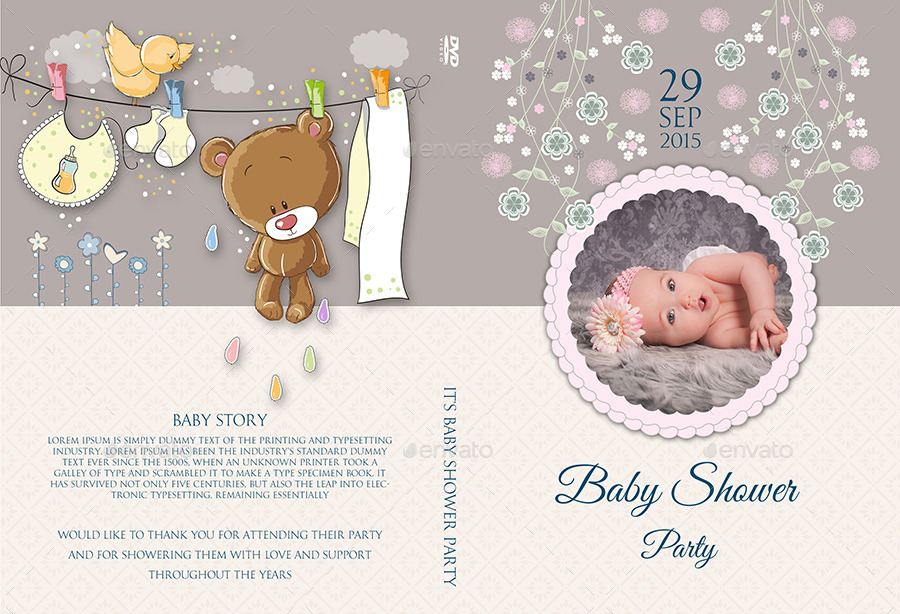 Baby Shower Party Dvd Template Vol 3 By Owpictures