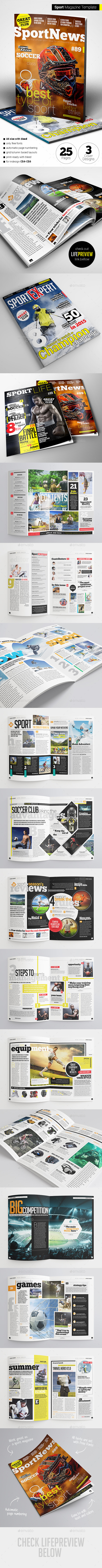 GraphicRiver Sport Magazine 11194273