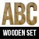 3D Wooden Letters and Numbers - GraphicRiver Item for Sale