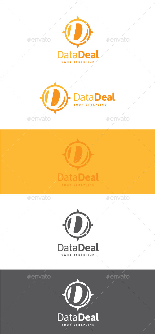 GraphicRiver Data Deal Letter D Logo 11222261