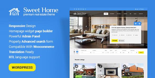Sweethome - Responsive Real Estate WordPress Theme - Real Estate WordPress
