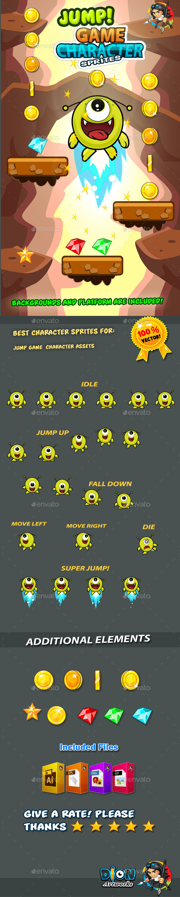 GraphicRiver Jump Game Character Sprites 13 11222440