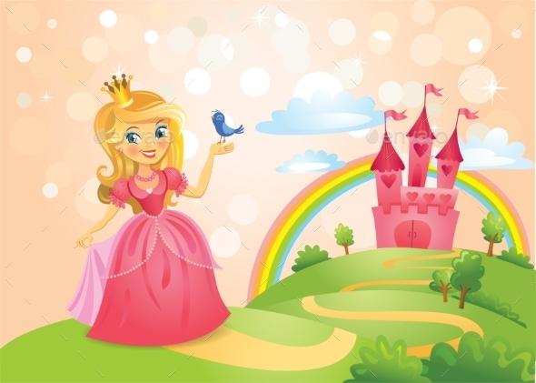 GraphicRiver Fairy Tale Castle and Princess 11222456