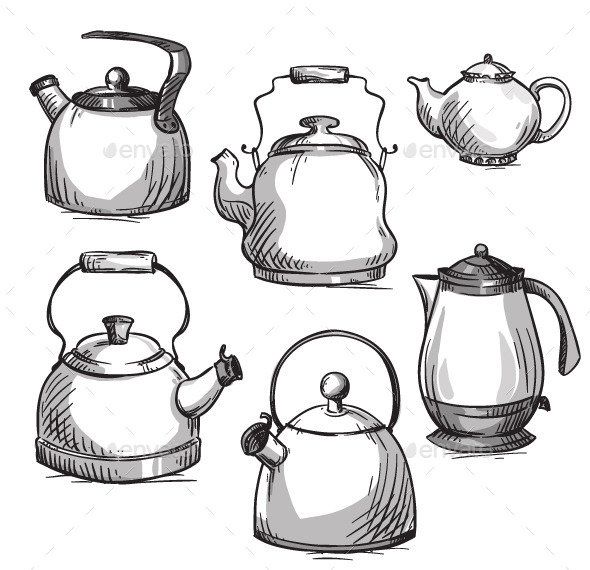GraphicRiver Set of Kettles 11222505