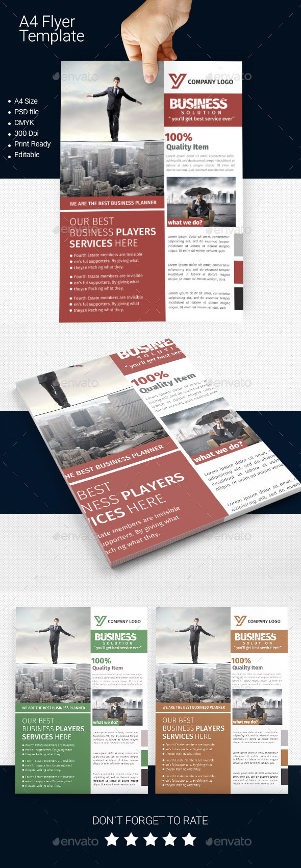 GraphicRiver A4 Business Flyer Template 02 11222575