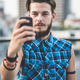 young handsome bearded hipster man selfie - PhotoDune Item for Sale