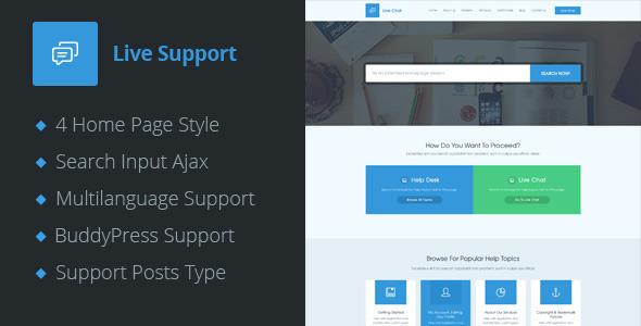 ThemeForest Live Support Helpdesk Responsive Wordpress Theme 11170595