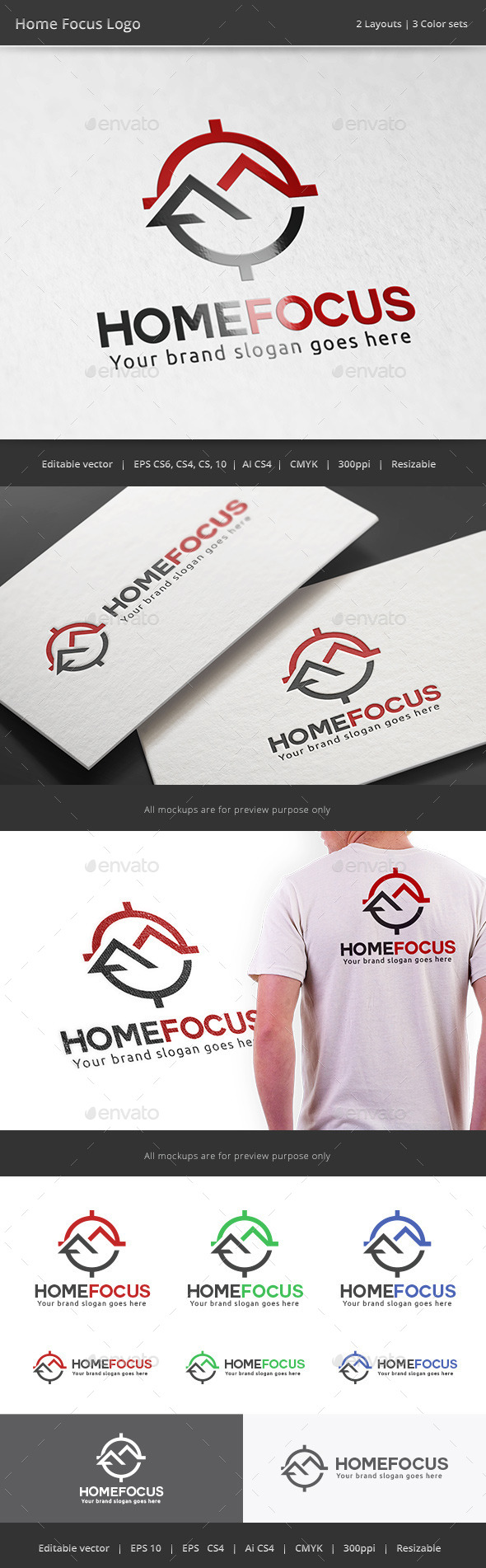 GraphicRiver Home Focus Real Estate Logo 11224632