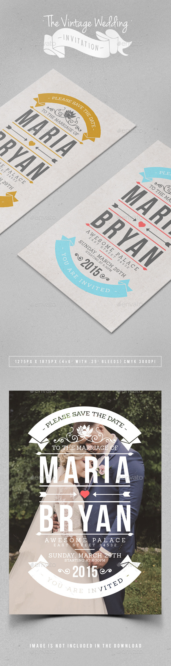GraphicRiver The Vintage Wedding Invitation 11209789