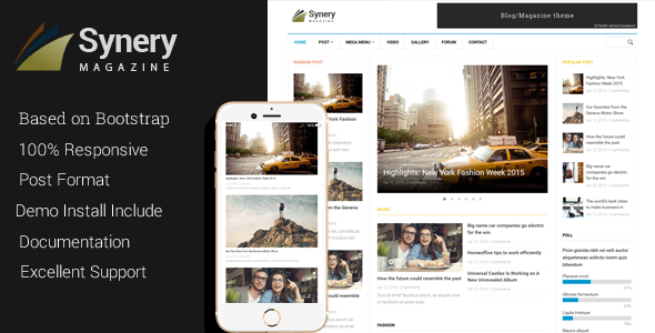 ThemeForest Synery Responsive Magazine News Drupal Theme 11224654