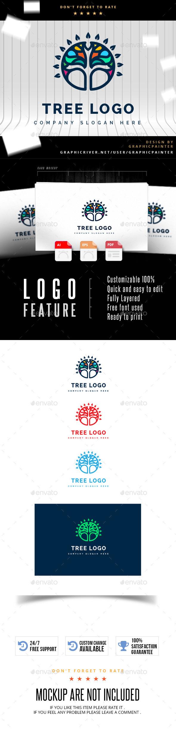 GraphicRiver Tree Logo 11224783