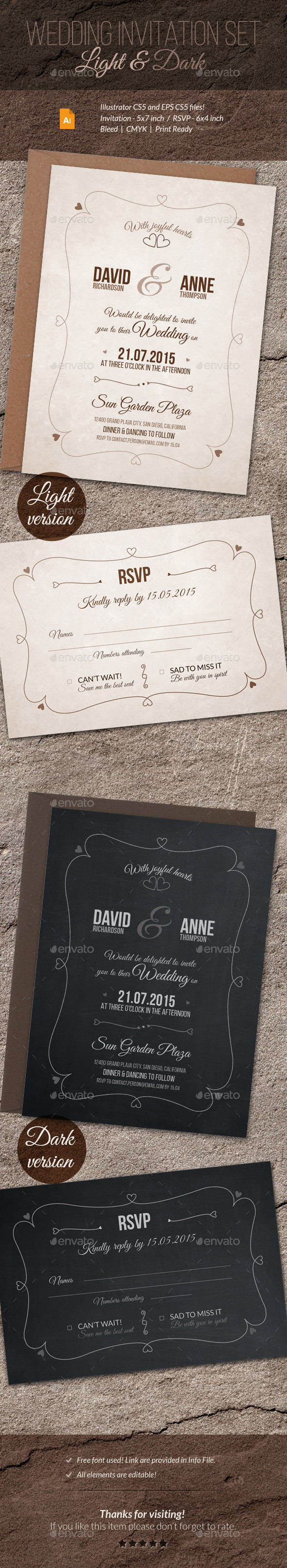 GraphicRiver Wedding Invitation and RSVP 11181248