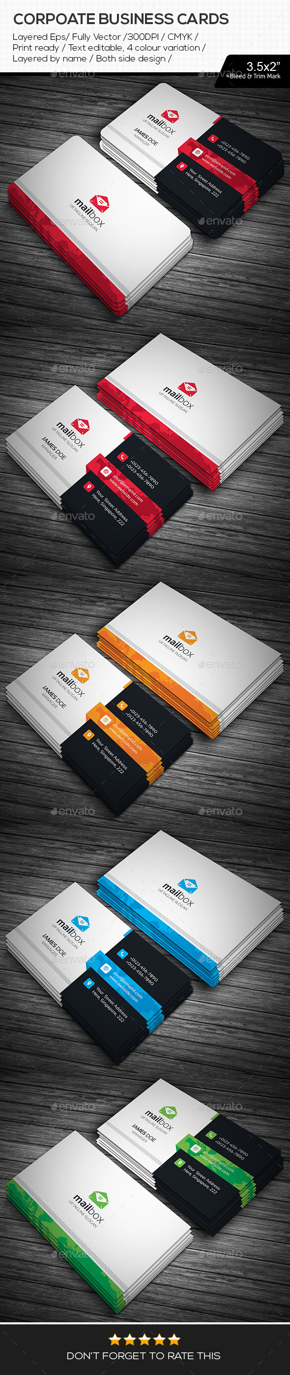 GraphicRiver Mail Box Corporate Business Cards 11224926