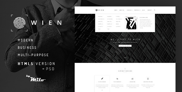 ThemeForest Wien Modern Business Multi-Purpose HTML5 Website 11203564
