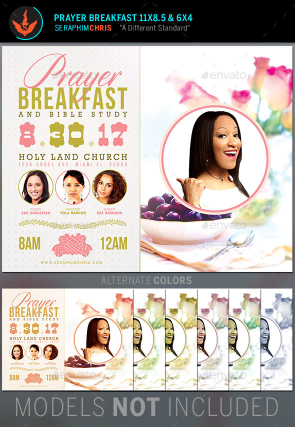 GraphicRiver Prayer Breakfast Church Flyer Template 11225012