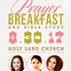 Prayer Breakfast Church Flyer Template - GraphicRiver Item for Sale