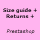 Size returns policy guide Prestashop Module