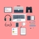 Workplace with Laptop - GraphicRiver Item for Sale