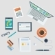 Concept of Workplace with Office Devices - GraphicRiver Item for Sale