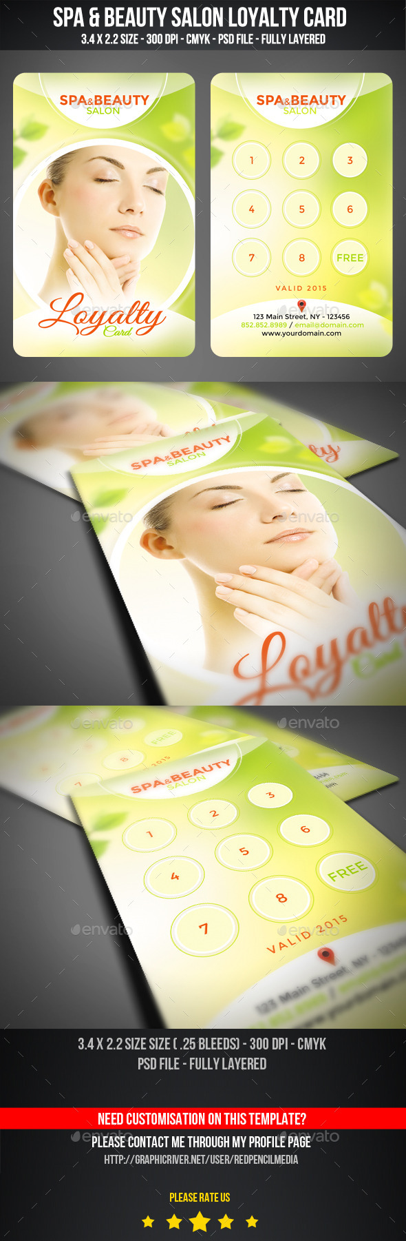 GraphicRiver Spa Beauty Salon Loyalty Card Rewards Card 11225480