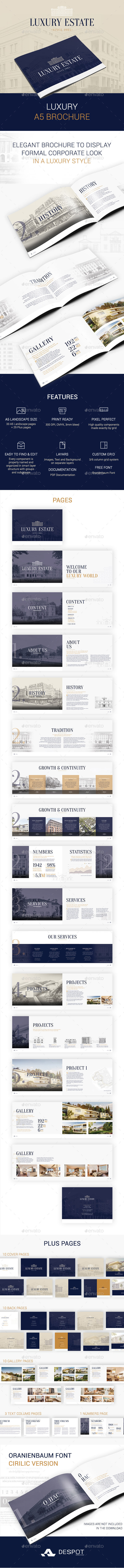 GraphicRiver Luxury A5 Brochure 11209285
