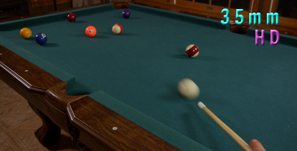 Hitting Pool Ball In A Pocket Billiards Game 6