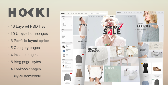 ThemeForest Hoki eCommerce PSD Template 11225981