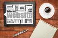website word cloud on tablet - PhotoDune Item for Sale