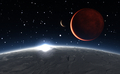 Sunrise over the Phobos with red planet Mars in the background - PhotoDune Item for Sale