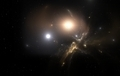 Two stars orbit about their common center of mass - PhotoDune Item for Sale