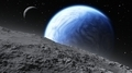 Two moons orbiting an Earth-like planet - PhotoDune Item for Sale