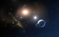 The Extrasolar planet and two stars orbit about their common center of mass - PhotoDune Item for Sale