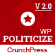 Politicize - Political Responsive WordPress Theme - ThemeForest Item for Sale