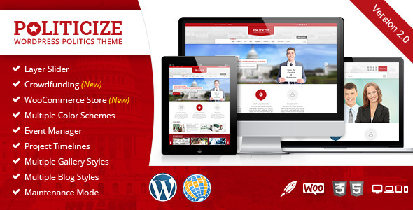 10 - Politicize - Political Responsive WordPress Theme