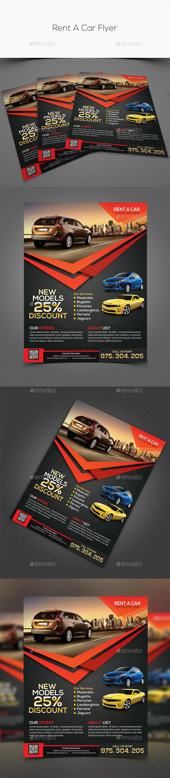 GraphicRiver Rent A Car Flyer 11226212