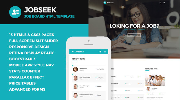 ThemeForest Jobseek Job Board HTML Template 11226245